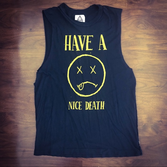 1607c795 UNIF Tops | Have A Nice Death Muscle Tee | Poshmark